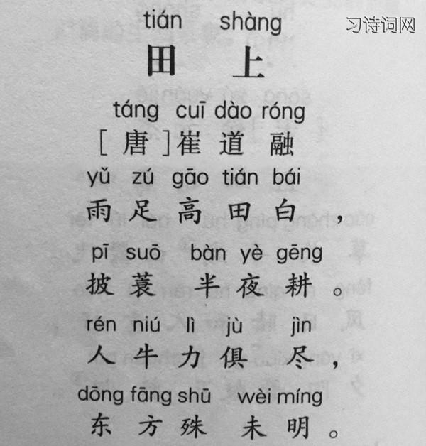 《田上》崔道融古诗原文翻译及鉴赏